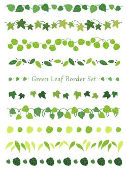A set of assorted leaf borders