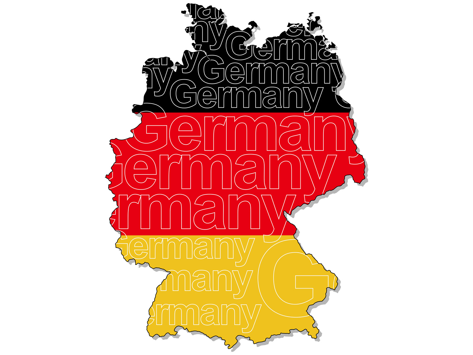 A map of Germany