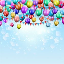 Balloons and bunting background