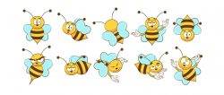 Bee Cartoon Set