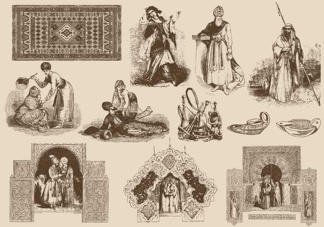 Brown Arabian Illustrations