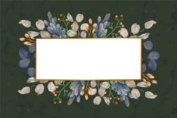 Colorful winter flowers with empty banner