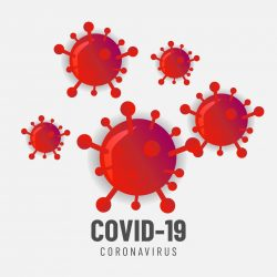 Coronavirus pandemic background