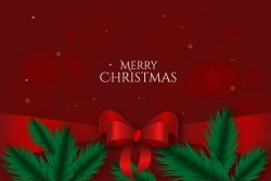 Cute christmas ribbon background