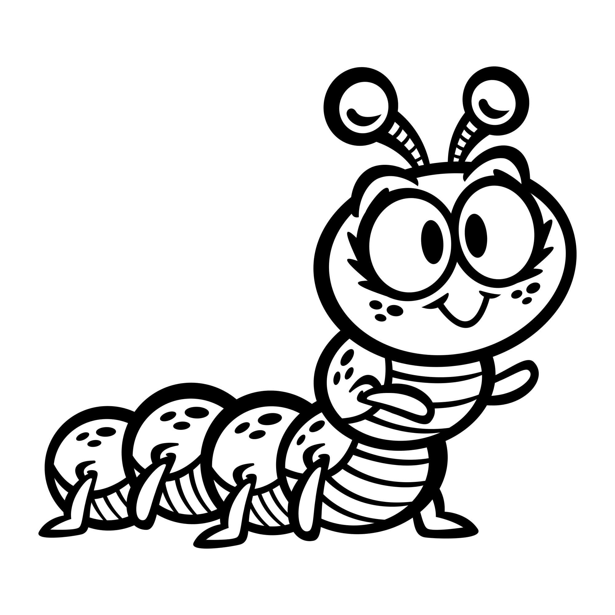 Cute Crawling Caterpillar Bug cartoon