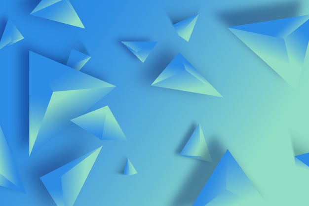 3d triangle background blue monochrome