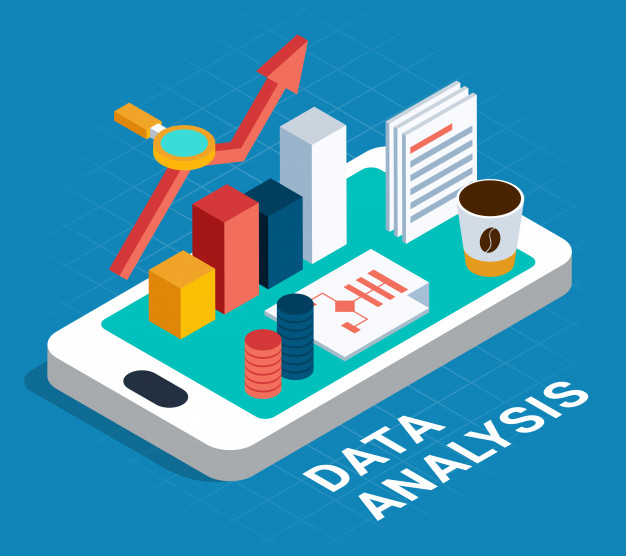 Data analysis isometric poster