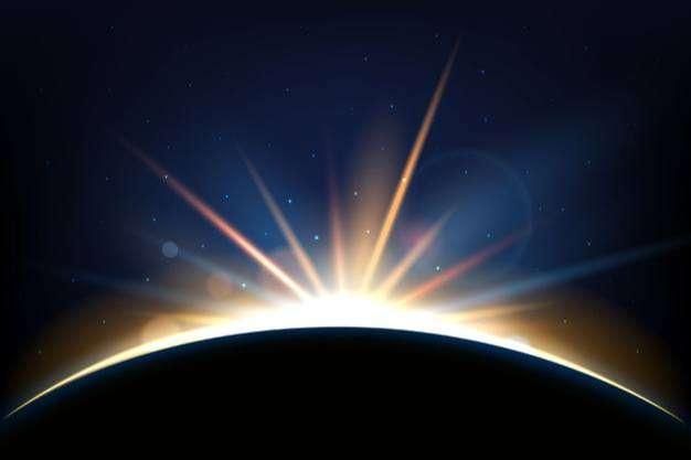 Earth sunrise light effect