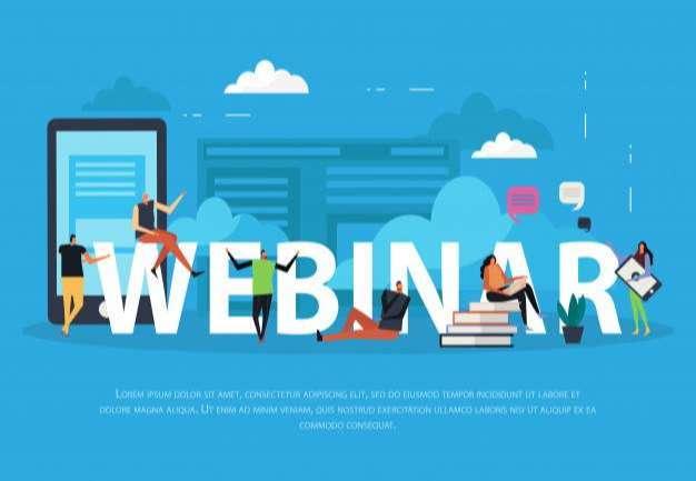 E-learning webinar flat landing page