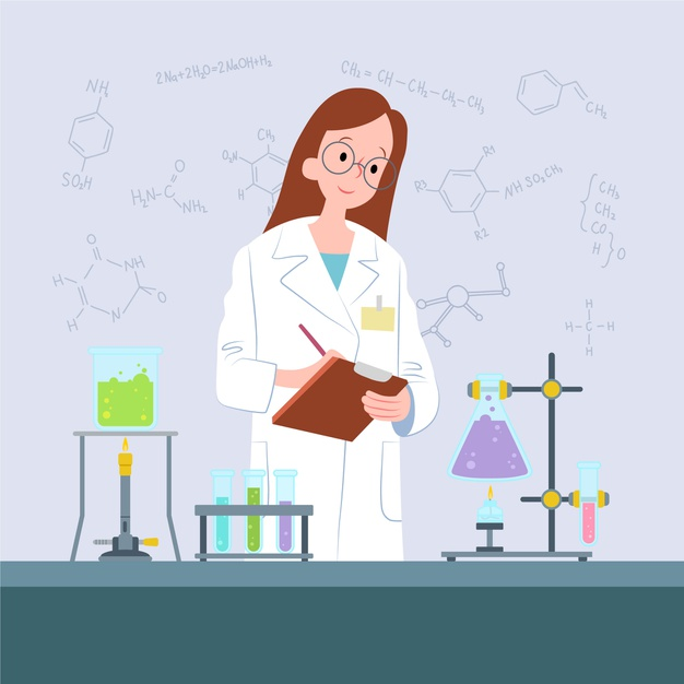 Female scientist working in the laboratory