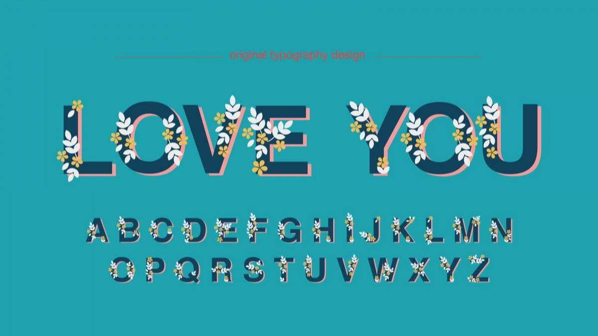 Floral Display Artistic Font