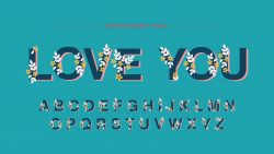 Floral Display Artistic Font