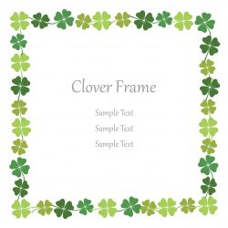 Four-leaf clover square frame