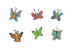 Cartoon Butterfly Vector Series