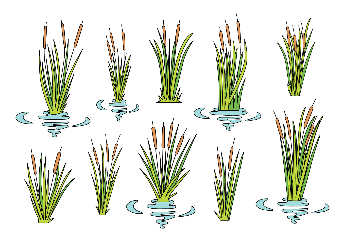 Free Cattails Icons