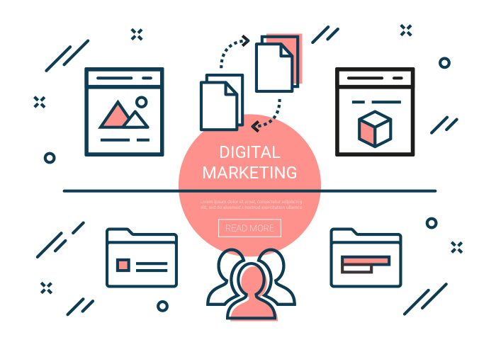 Free Linear Digital Marketing Elements