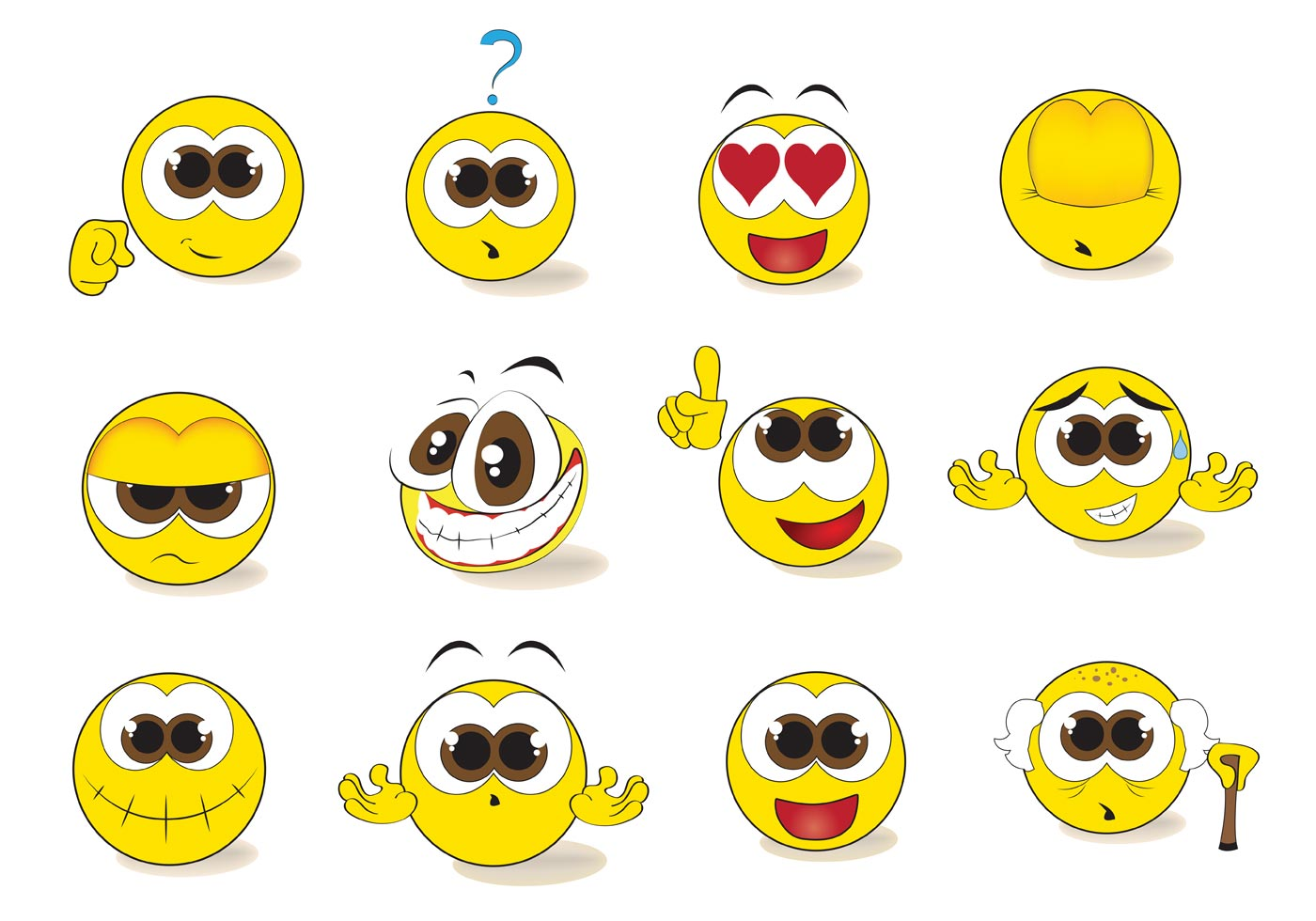 Free Smiley Emoticon Vector Set