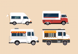 Food Truck Illustration Set