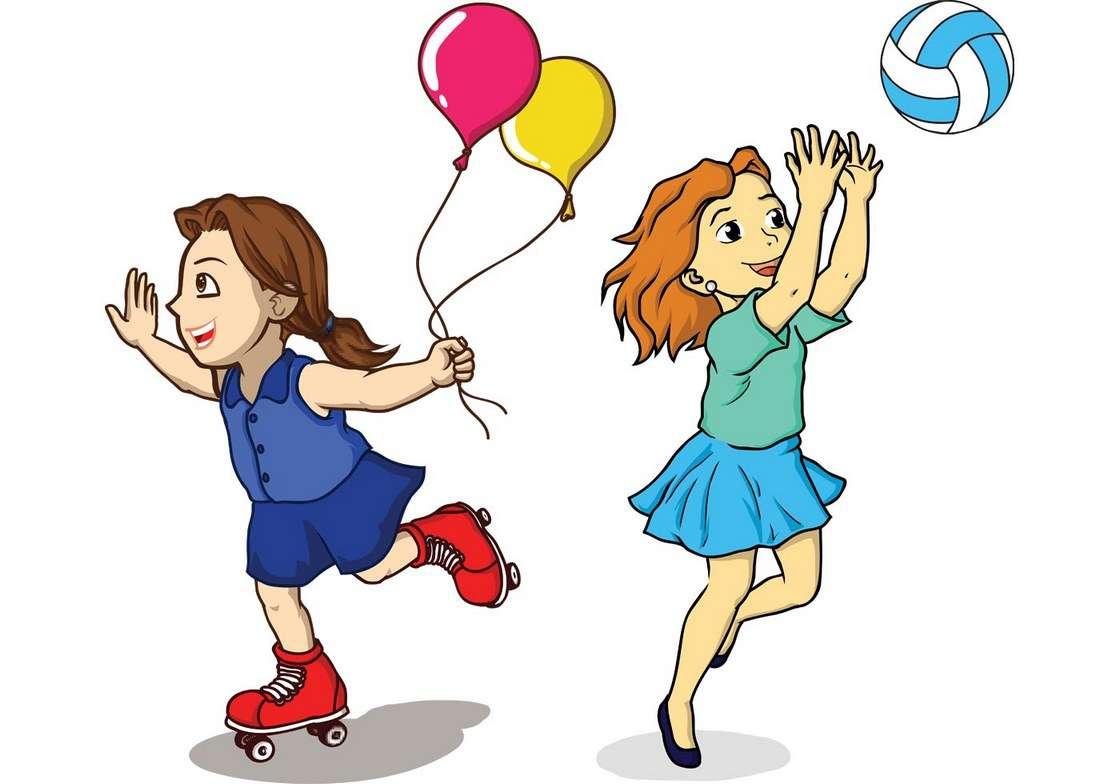 Girls Playing