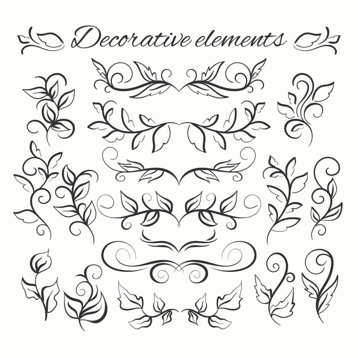 Hand drawn divders set