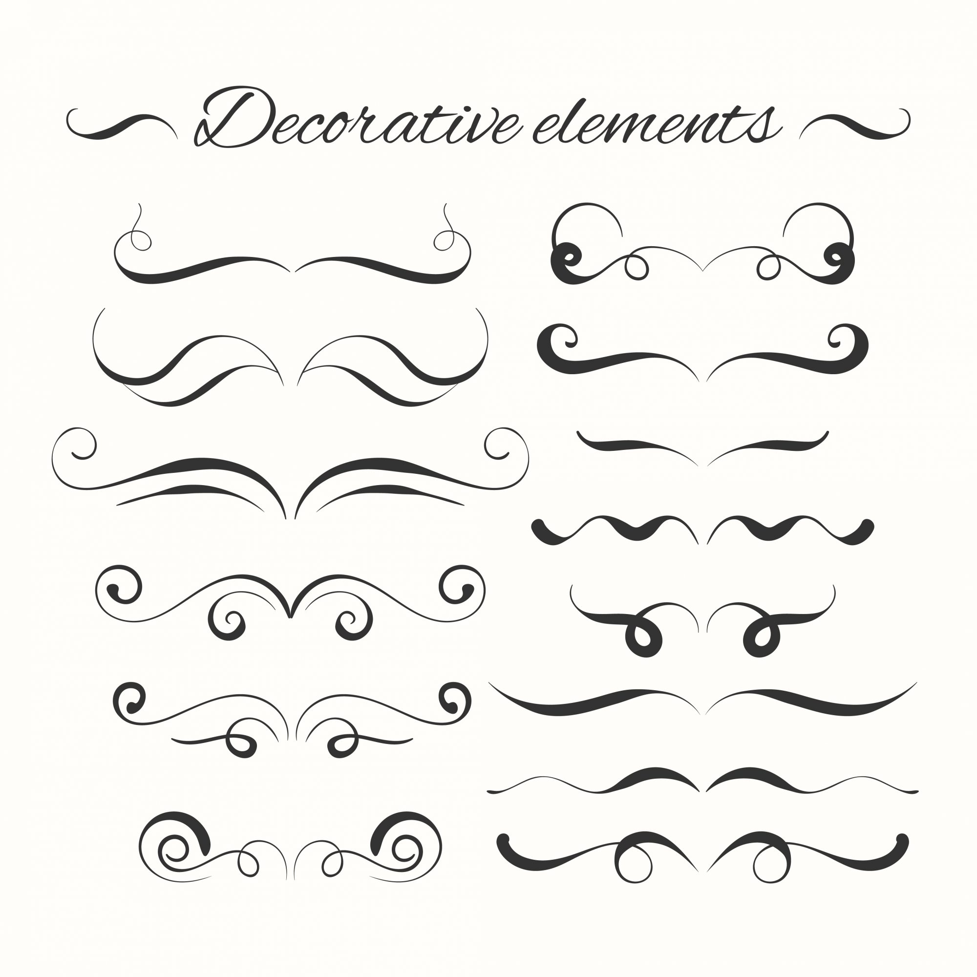 Hand drawn dividers set