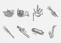 Hand Drawn Instrument Icon