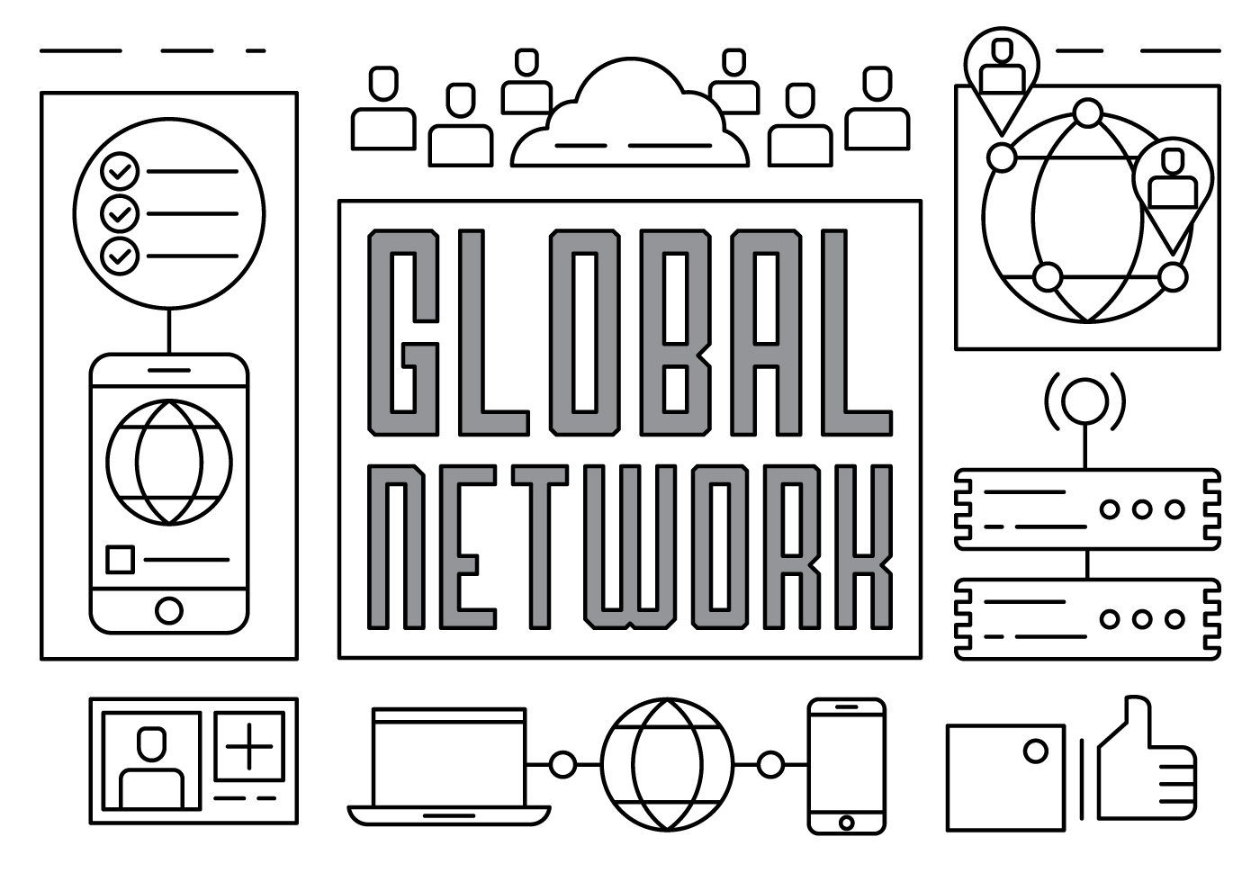 Linear Global Networking