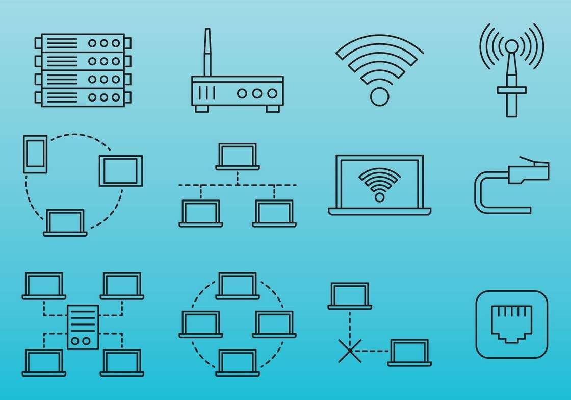 Line Internet Network Icons