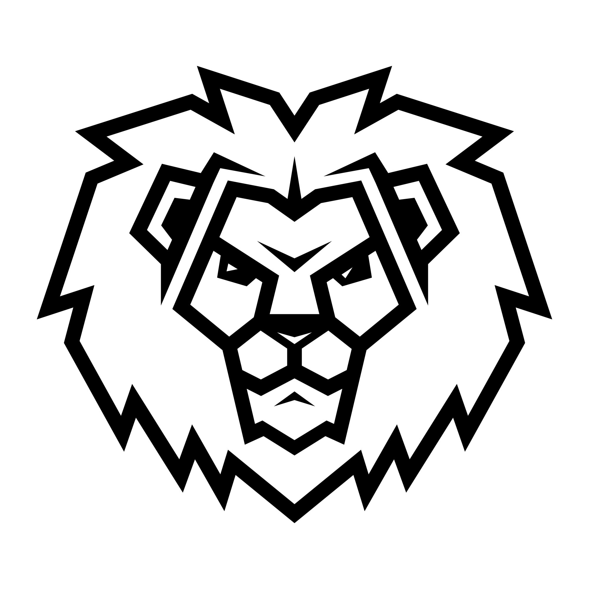 Lion head cartoon illustration
