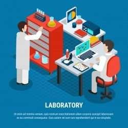 Medical laboratory isometric