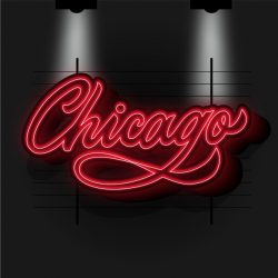 Modern chicago city lettering