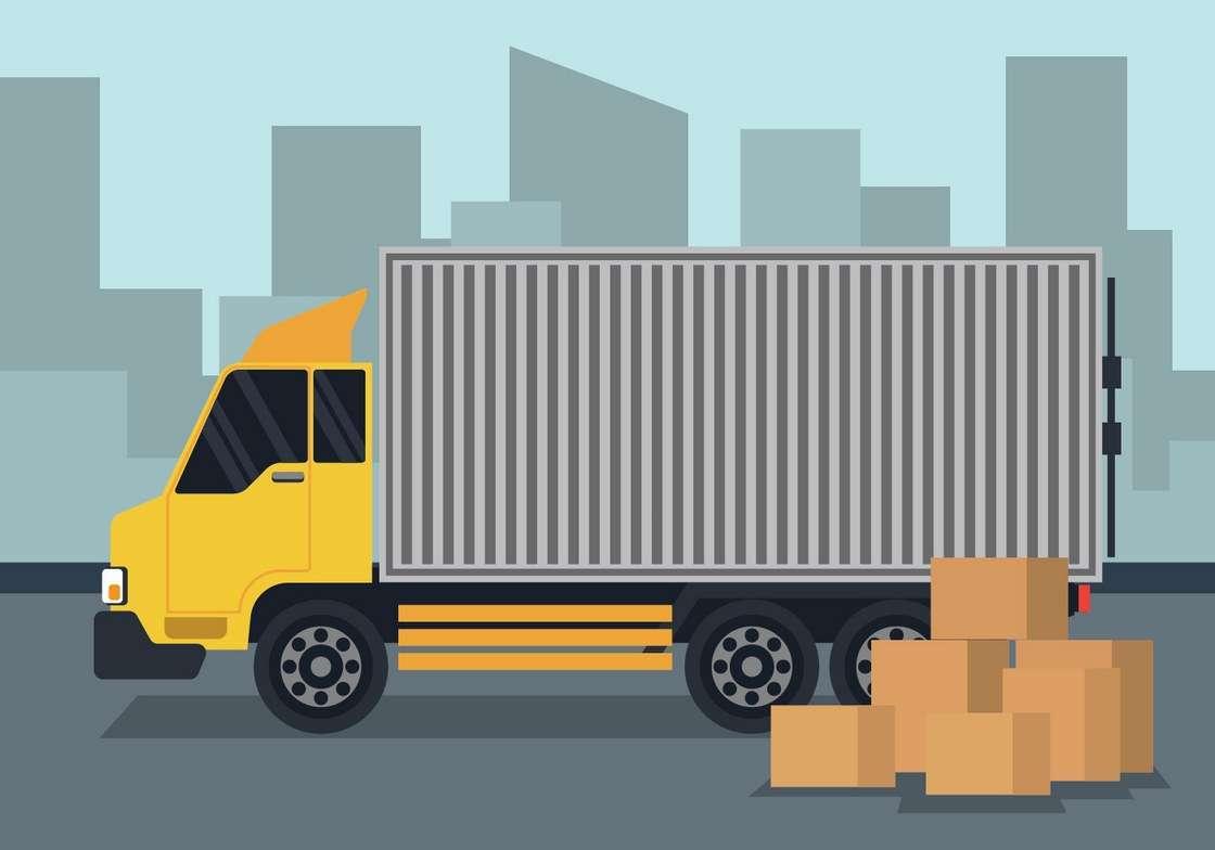 Moving Truck Illustration