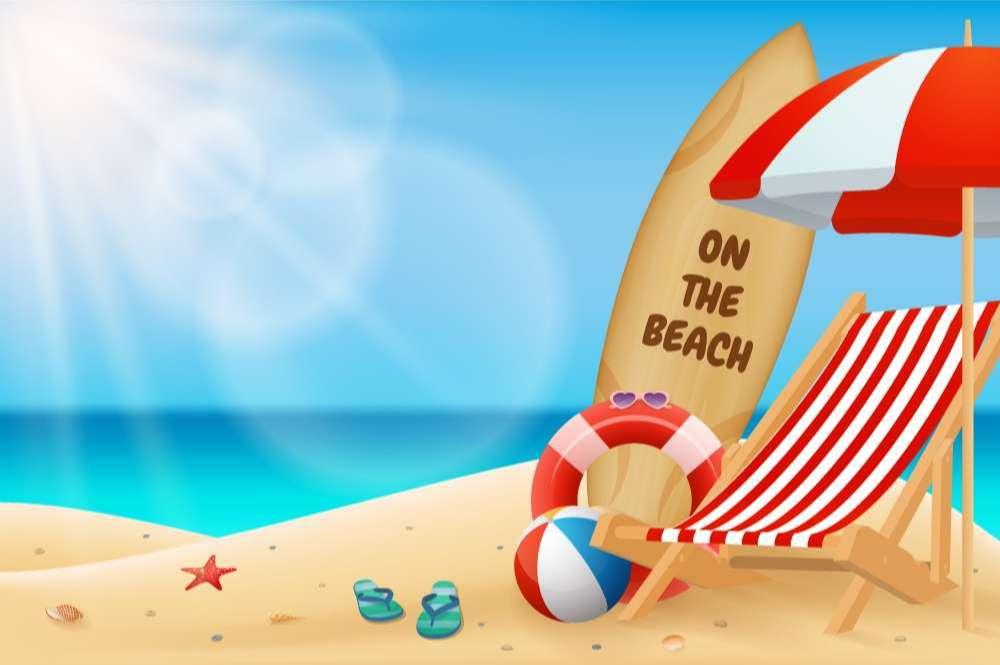 Seascape horizontal background