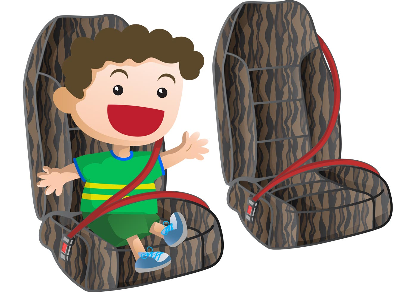 Seat Belt Vector with Toddler