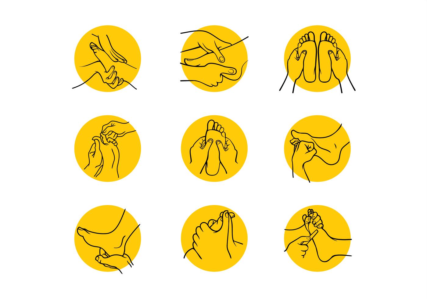Set of Hand Drawn Reflexology