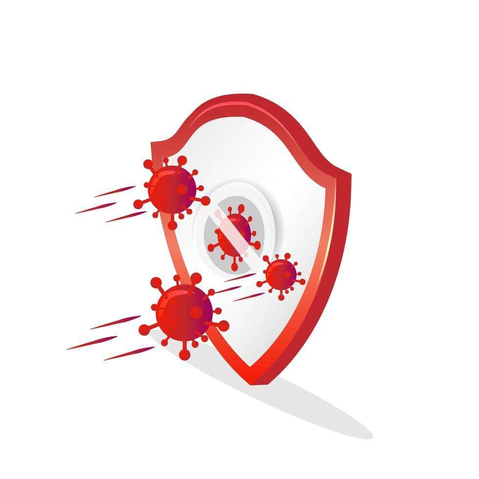 Shield protecting from coronavirus