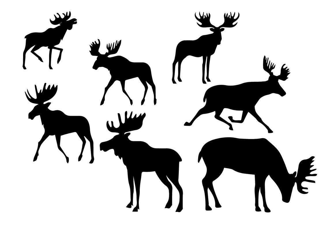 Silhouette Caribou Set