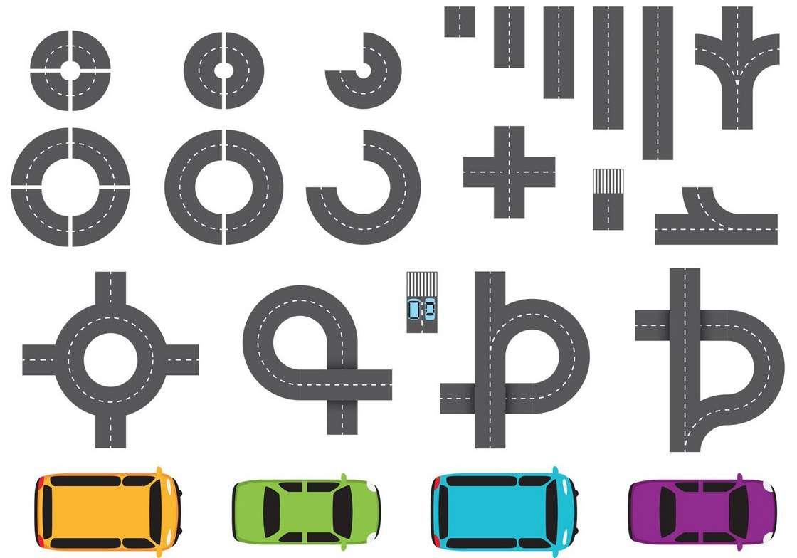 Street Parts and Car Vectors