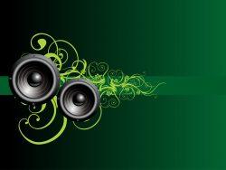 vector music speaker