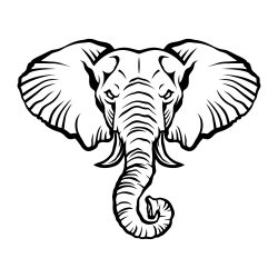Angry cartoon elephant illustration