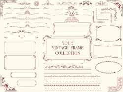 A set of assorted vintage frames