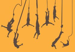 Bungee Jumper Silhouettes