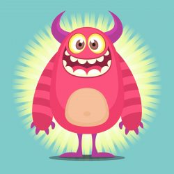 Cute Cartoon Troll Character Illustration