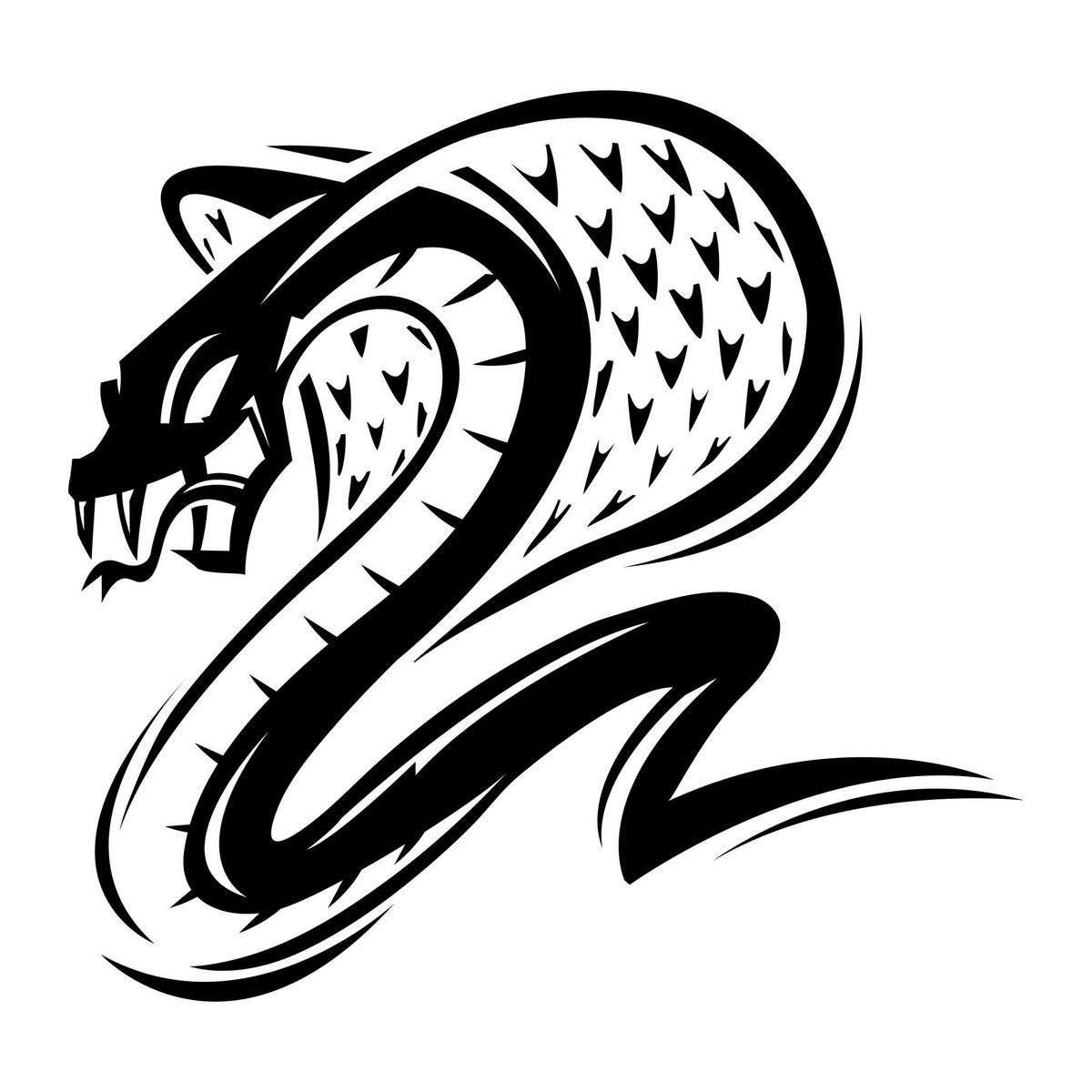 Deadly cobra snake illustration
