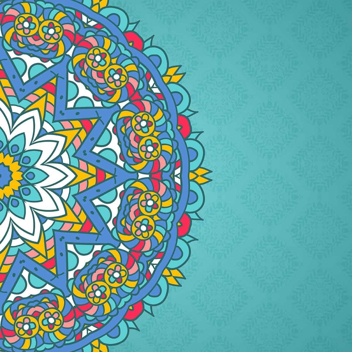 Decorative mandala styled background