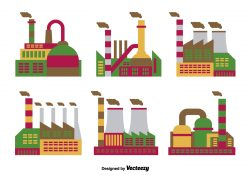 Factory flat icons