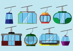 Free Cable Car Icons