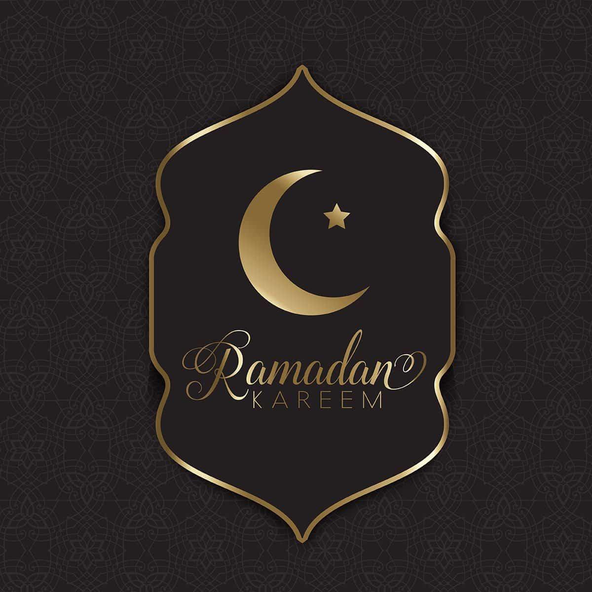 Gold and black Ramadan background