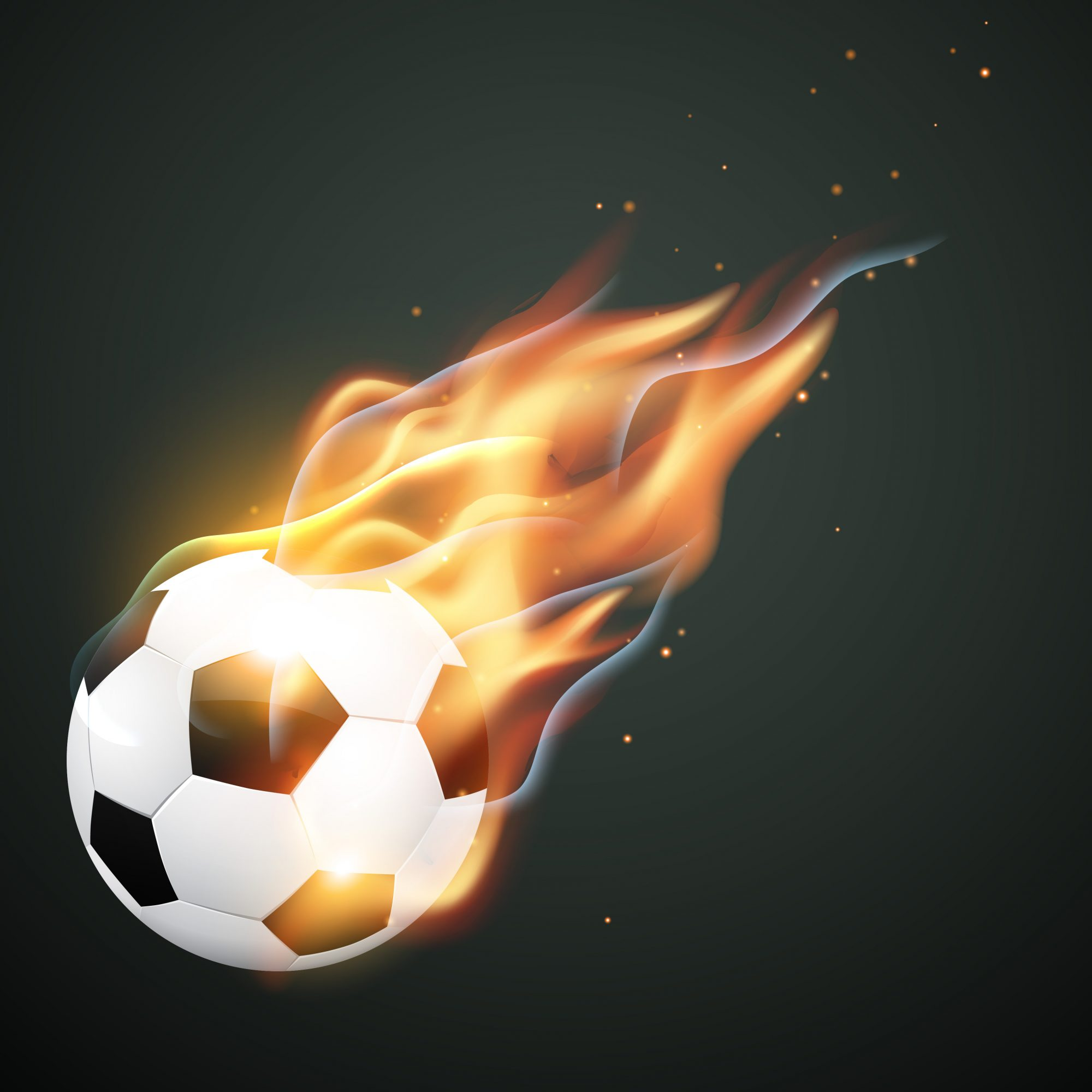 illlustration of burning football