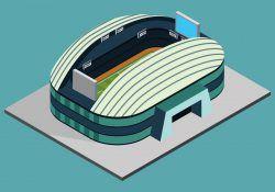 Isometric Soccer Stadium